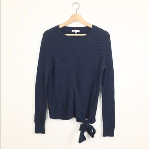 Madewell Side Tie Pullover Sweater